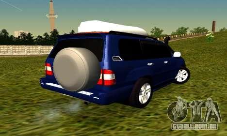 Toyota Land Cruiser 100vx2 para GTA San Andreas traseira esquerda vista