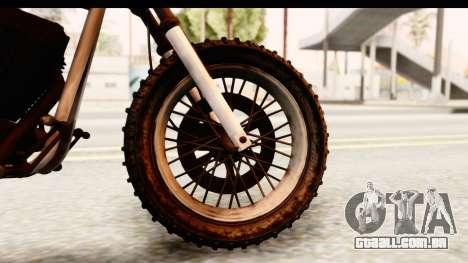 GTA 5 Western Cliffhanger Custom v2 IVF para GTA San Andreas vista traseira