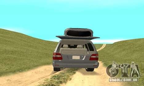Toyota Land Cruiser 100 para GTA San Andreas vista interior