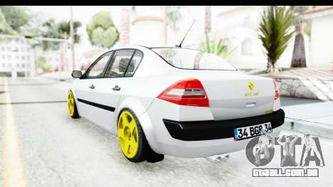 Renault Megane para GTA San Andreas vista direita