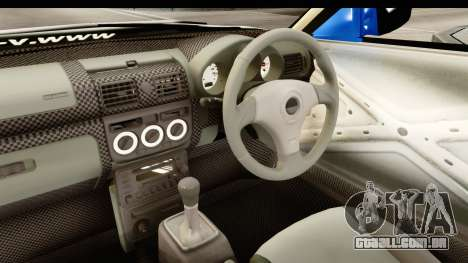 D1GP Nissan Silvia RC926 Toyo Tires para GTA San Andreas vista interior