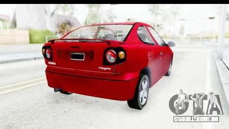 Renault Megane Coupe para GTA San Andreas traseira esquerda vista