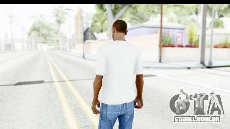 Nike Just Do It T-Shirt para GTA San Andreas terceira tela