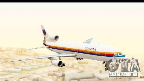 Lockheed L-1011-100 TriStar United Airlines para GTA San Andreas traseira esquerda vista