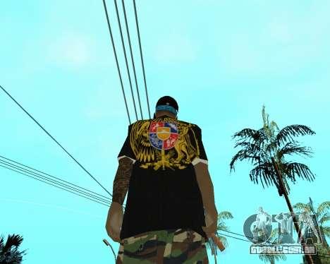 New Armenian Skin para GTA San Andreas quinto tela