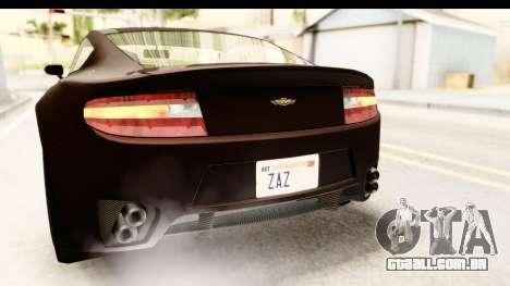 GTA 5 Dewbauchee Rapid GT SA Style para GTA San Andreas vista inferior