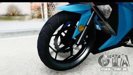 Kawasaki Ninja 300R para GTA San Andreas vista traseira