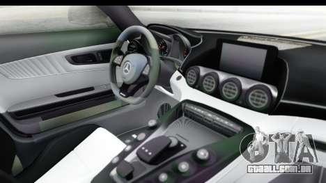 Mercedes-Benz AMG GT Prior Design para GTA San Andreas vista interior