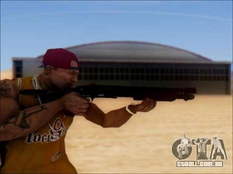 GTA V Shrewsbury Pump Shotgun para GTA San Andreas terceira tela