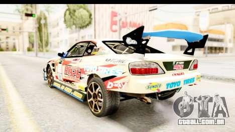 D1GP Nissan Silvia RC926 Toyo Tires para GTA San Andreas traseira esquerda vista