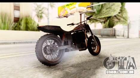 GTA 5 Western Cliffhanger Custom v1 para GTA San Andreas traseira esquerda vista