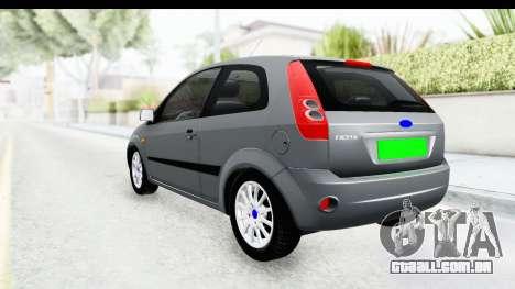 Ford Fiesta para GTA San Andreas esquerda vista
