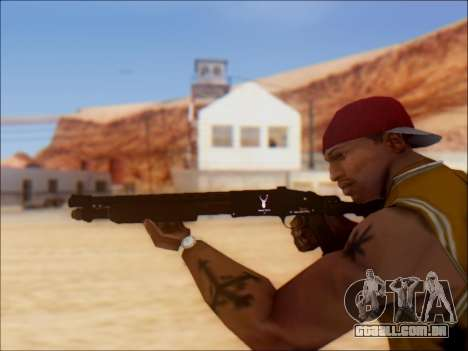 GTA V Shrewsbury Pump Shotgun para GTA San Andreas por diante tela