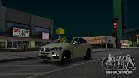 BMW X6M Bulkin Edition para GTA San Andreas vista direita