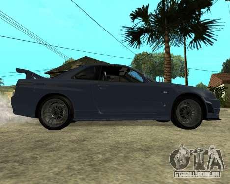 Nissan Skyline Armenia para GTA San Andreas vista traseira