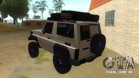 Toyota Machito Semi Off Road para GTA San Andreas traseira esquerda vista