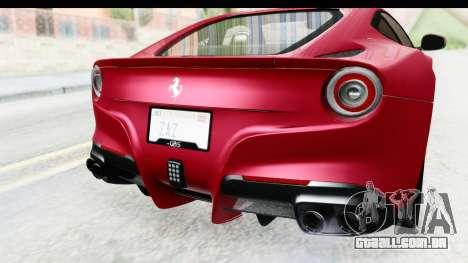 Ferrari F12 Berlinetta 2014 para GTA San Andreas vista superior