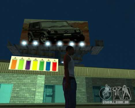 Pinte a garagem para GTA San Andreas segunda tela