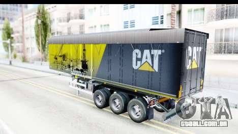 Trailer Caterpillar para GTA San Andreas traseira esquerda vista
