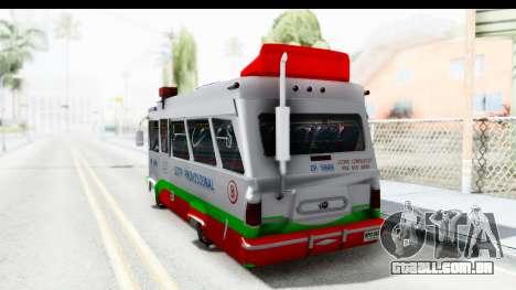 Dodge 300 Microbus para GTA San Andreas esquerda vista