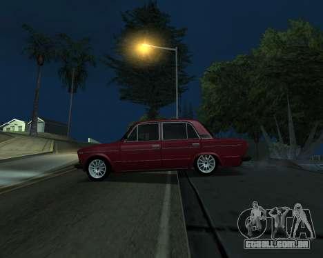 VAZ 2106 arménio para GTA San Andreas vista traseira