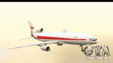 Lockheed L-1011-100 TriStar Trans World Airlines para GTA San Andreas