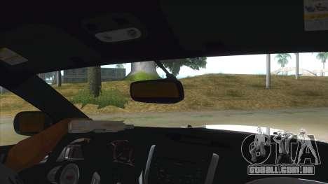 2008 Subaru WRX Widebody L3D para GTA San Andreas vista interior