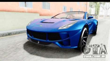 GTA 5 Dewbauchee Seven 70 para GTA San Andreas vista direita