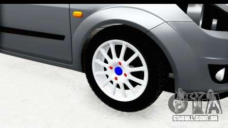 Ford Fiesta para GTA San Andreas vista traseira