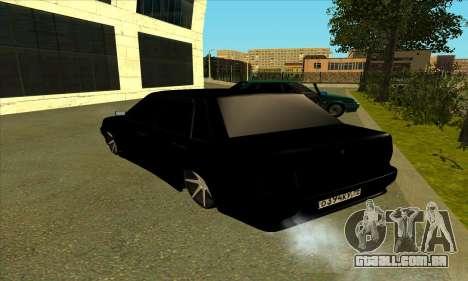 2115 para GTA San Andreas traseira esquerda vista