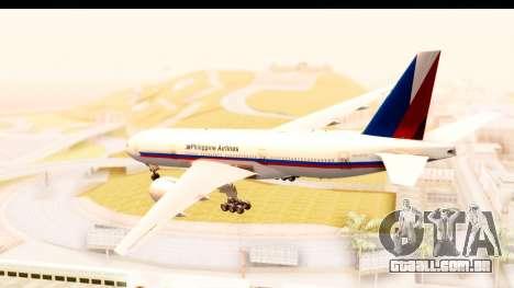 Boeing 777-200LR Philippine Airline Retro Livery para GTA San Andreas esquerda vista
