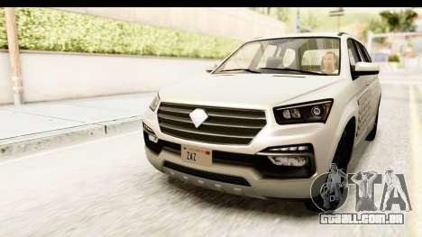 GTA 5 Benefactor XLS SA Style para GTA San Andreas vista inferior