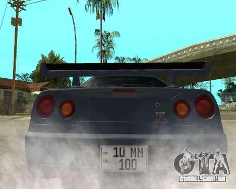 Nissan Skyline Armenia para GTA San Andreas traseira esquerda vista