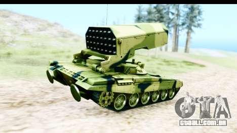 TOS-1A para GTA San Andreas traseira esquerda vista