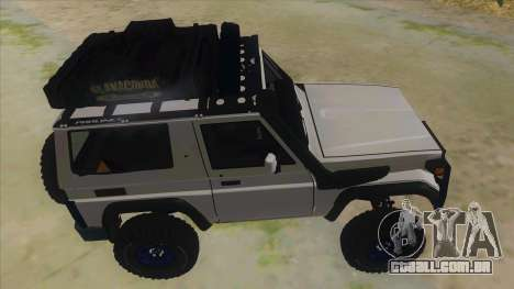Toyota Machito Semi Off Road para GTA San Andreas vista interior