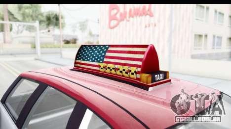 GTA 5 Canis Seminole Downtown Cab Co. Taxi para GTA San Andreas vista interior