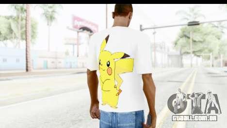 T-Shirt Pokemon Go Pikachu para GTA San Andreas segunda tela