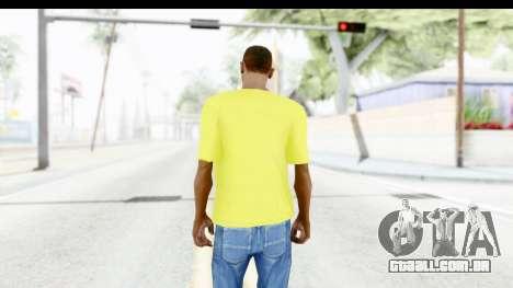 Adidas Thor T-Shirt para GTA San Andreas terceira tela