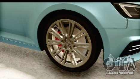 Audi A4 TFSI Quattro 2017 para GTA San Andreas vista traseira