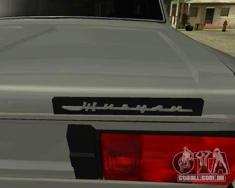 VAZ 2106 arménio para GTA San Andreas interior