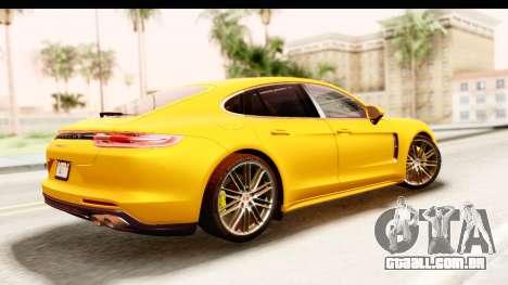 Porsche Panamera 4S 2017 v3 para GTA San Andreas esquerda vista