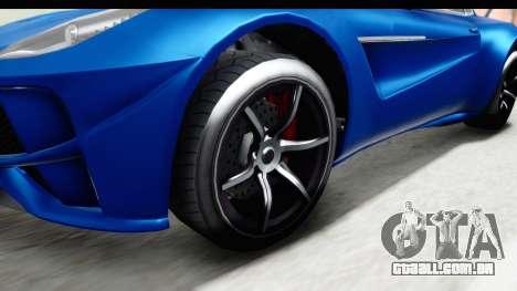 GTA 5 Dewbauchee Seven 70 para GTA San Andreas vista traseira