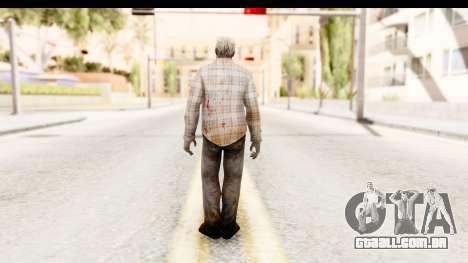Left 4 Dead 2 - Zombie Shirt 2 para GTA San Andreas terceira tela
