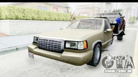 Limousine Auto Transporter para GTA San Andreas vista direita