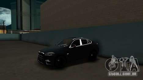 BMW X6M Bulkin Edition para GTA San Andreas traseira esquerda vista