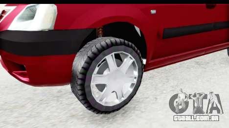 Dacia Logan MCV para GTA San Andreas vista traseira