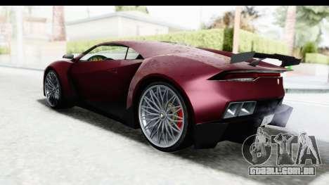 GTA 5 Pegassi Reaper v2 IVF para GTA San Andreas traseira esquerda vista