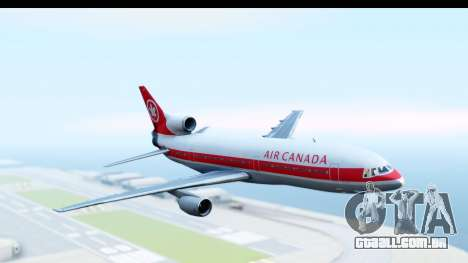 Lockheed L-1011-100 TriStar Air Canada para GTA San Andreas traseira esquerda vista