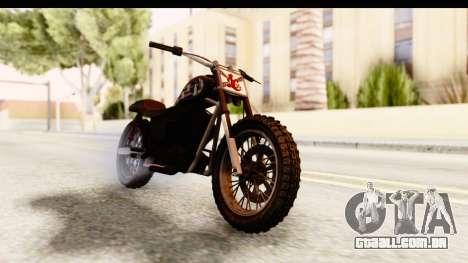 GTA 5 Western Cliffhanger Custom v1 para GTA San Andreas vista direita