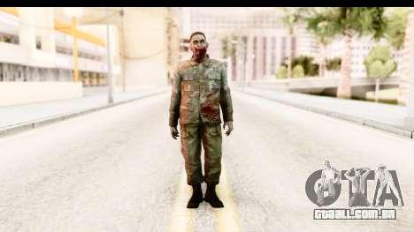 Left 4 Dead 2 - Zombie Military para GTA San Andreas segunda tela